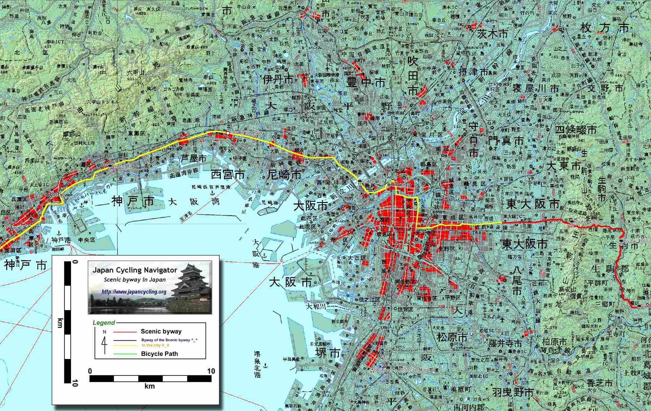 Japan Cycling Navigator Length Of Japan