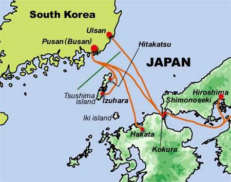 Japan to south korea